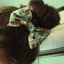 Sock Bun With Cute Homemade Bow