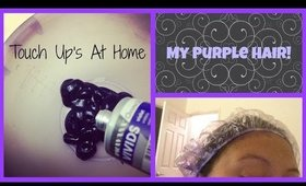My Purple Hair! | Touching up at Home! Vlog Style Tips