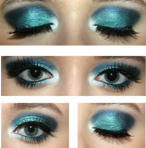 My Electric Blue Eyeshadow from my YouTube tutorial.