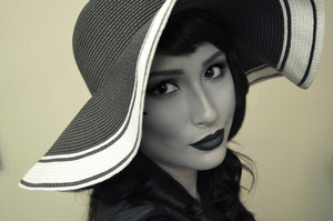 My black and white 40's glamour look! And I made my self all black and white with makeup!!! and did not use a black and white filter!