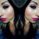 bronzer pink lips