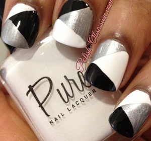 Colors used: Pure Nail Lacquer Blameless, Committed, and Limitless http://www.polish-obsession.com/2013/05/more-pure-nail-lacquer.html
