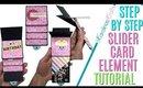 How to Make a SLIDER CARD step by step, SLIDER GIFT CARD HOLDER DIY