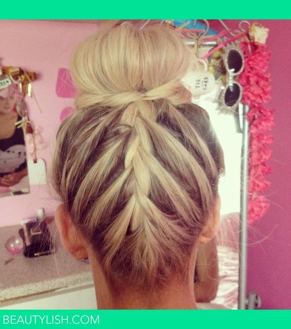 French braid bun robyn ms photo beautylish french braid bun ccuart Images