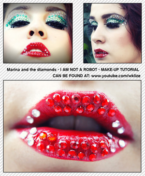 MARINA AND THE DIAMONDS I AM NOT A ROBOT INSPIRED LOOK.  FOR THE TUTORIAL AND PRODUCTS AND MORE PHOTOS CLICK THE LINK BELOW:  http://claudiapelagatti.com/2012/10/21/guess-what-i-am-not-a-robot/
