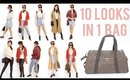 10 Travel Outfits In 1 Carry On Luggage | ANN LE