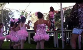 Zumba demo with my girls at the art & wine festival!!!