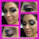 Pink Glittered Smokey Eye