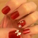Simple Christmas nails