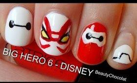 BIG HERO 6 Trailer Inspired Nails! ♥ Short & Long Disney nails