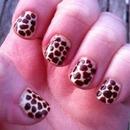 Girafe print nails