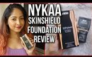 NYKAA SKINshield Anti Pollution Foundation | REVIEW & DEMO | Stacey Castanha