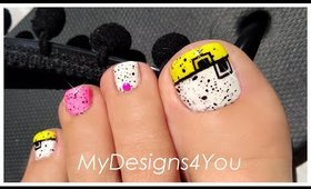 "This ""Splatter"" Nail Art Trend is So Much Fun! | Neon Toenail Art ♥"