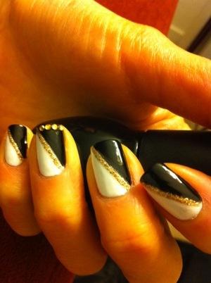 My saturday night fever nails ;p