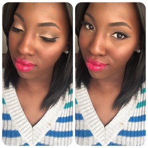 Using a Maybelline quad and naked 2 I was able to achieve this simple look.