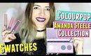 Colourpop x Amanda Steele Collection Swatches, Amanda Steele Colourpop Jiffy, Colourpop Chaps & Hack