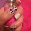 Valentine's Day Cheetah print nails
