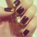 Black With Gold Glitter