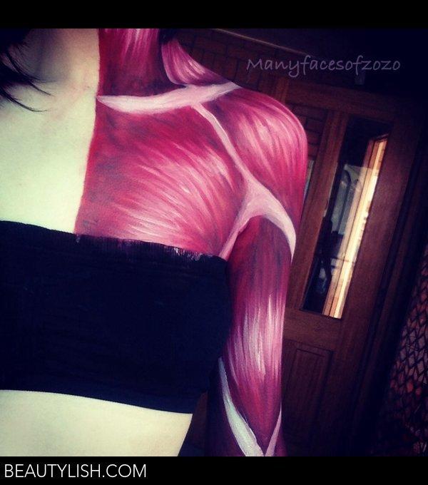 Muscle Bodyart Zoe M S Manyfacesofzozo Photo Beautylish