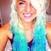 Hair chalking for the summer