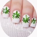 Weed nail art