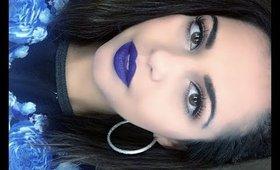 BOLD BLUE LIPS + Warm Eyes ♡ Makeup Tutorial