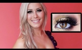 Gold Glitter/Black Tutorial- Great for Special Events or Prom