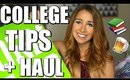 COLLEGE TIPS + DORM ROOM HAUL & GIVEAWAY