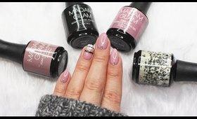 Striped Gel Nail Art   Madam Glam Black Friday Sale ♡