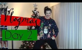 Vlogmas Day 2   GRWM Holiday Edition
