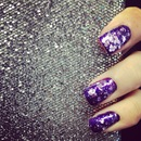 Purple Nails With Purple Foil