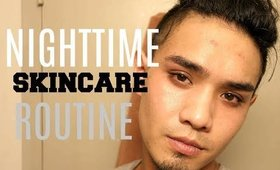 GET UNREADY WITH ME   NIGHTIME ACNE SKINCARE ROUTINE