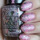 OPI More Than a Glimmer (Layered Over OPI Pink-ing of You)
