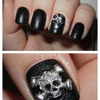 Nails Inc Leather Effect nails with studs!