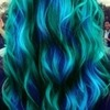 Green and Blue Hair <3