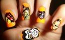 Vampire, Witch, Spider, Bat, Zombie Halloween Nail Art