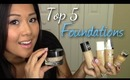 Top 5 Foundations   FromBrainsToBeauty