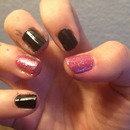 Black And Pink Glitter