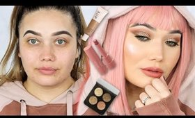 NEW MAKEUP! GET READY WITH ME | PINK TRANSFORMATION