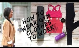 How to Wear Gym Clothes to Work | Nikki's Haven