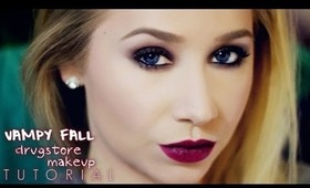 Vampy Fall Drugstore Complete Makeup Tutorial