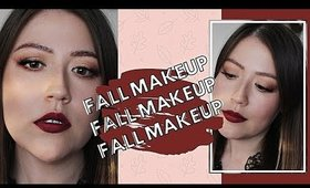Easy Fall Makeup Tutorial | Soft Eyes + Vampy Lips
