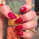 Deep Red Gel Tips for Fall