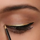 Perfect gold eye-liner