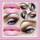 pink eyeshadow :)