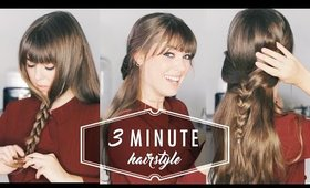 3 MINUTE Hairstyle: The Easiest Hairstyle You'll Ever Do
