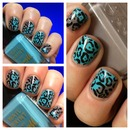 barry m turquoise leopard