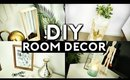 DIY ROOM DECOR! (TUMBLR INSPIRED) MINIMAL & CHEAP 2017