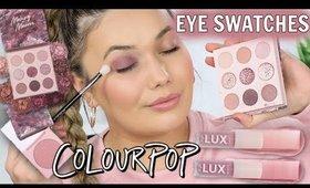 COLOURPOP Mauve Collection Eye + Face Swatches!