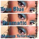 Dramatic blue eye makeup 👀